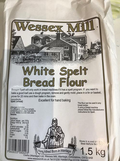 White spelt bread flour