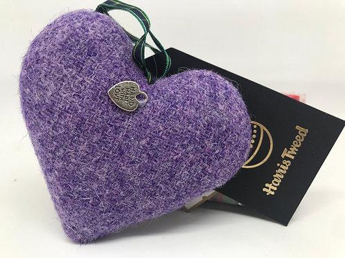 Harris tweed heart