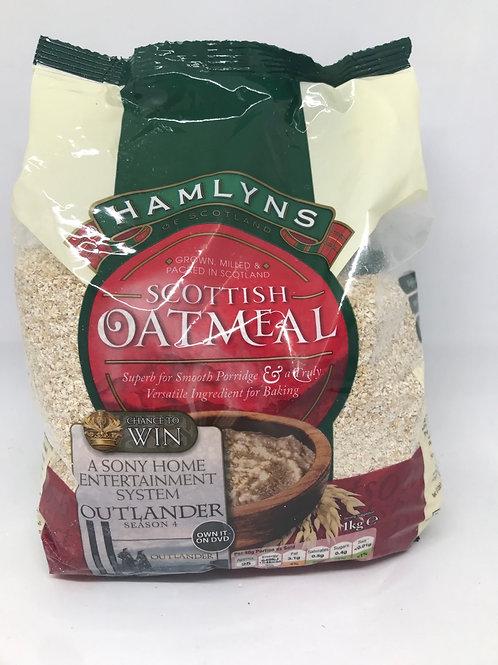 Hamlyns Scottish oatmeal 1 kg bag