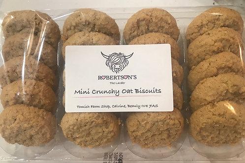 Mini Crunchy Oat Biscuits
