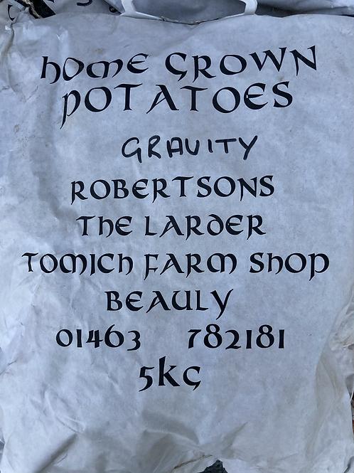 Homegrown Gravity Potatoes