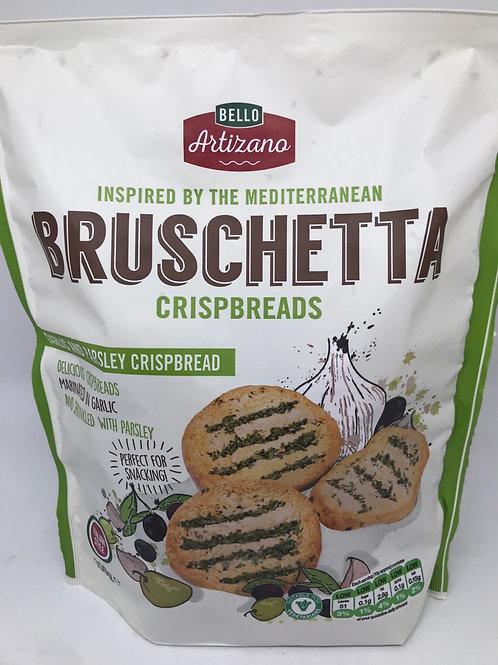 Bruschetta crispbreads garlic and parsley