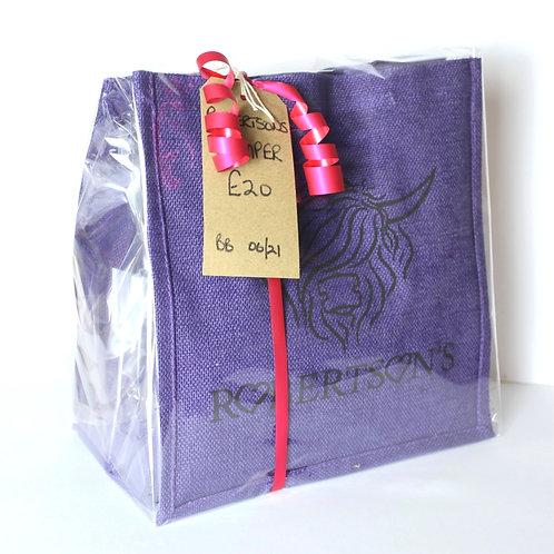 Medium Hamper filled Bag - Violet