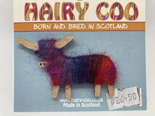 Hairy Coo Handmade Brooch