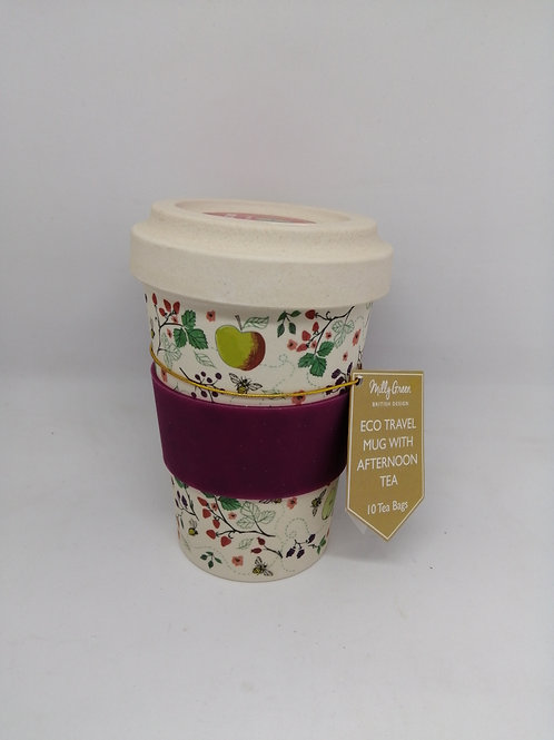 Travel mug with afternoon tea