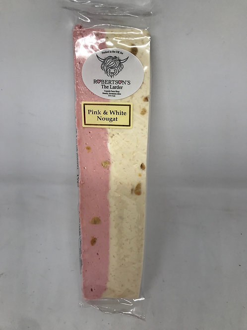 Pink and White Nougat
