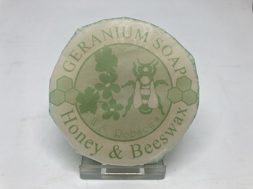 Honey & Beeswax Geranium Soap - 75g