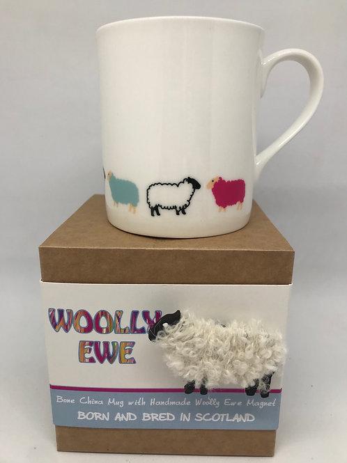 Woolly Ewe Mug and a magnet.