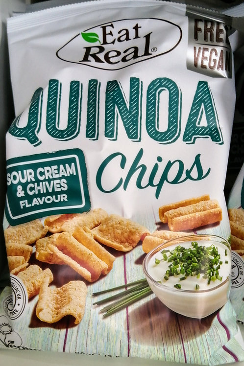 Sour cream and chive quinoa chips