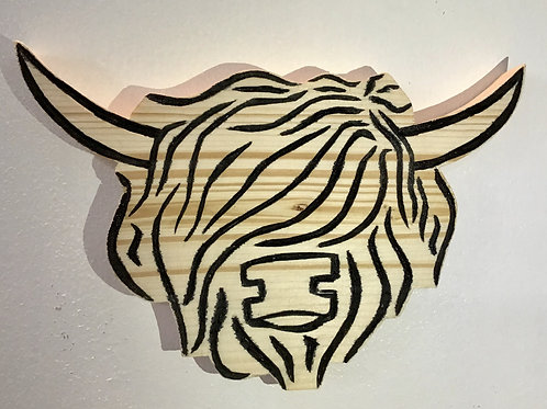 Highland Cow Carved Fridge Magnet