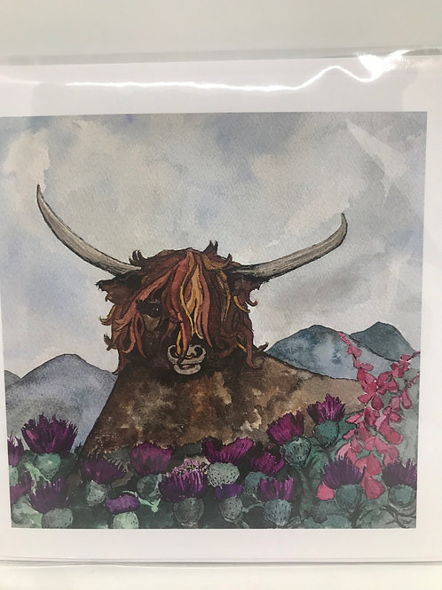 Highland Cow Card - blank