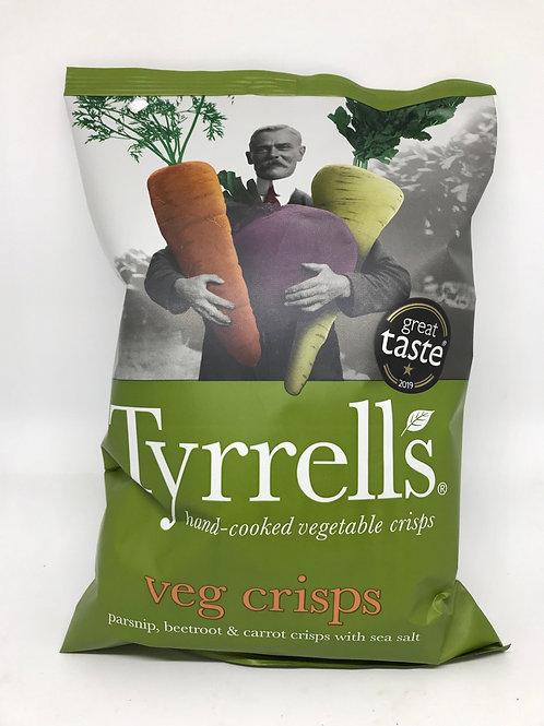 Tyrrells Hand cooked vegetable crisps 125g