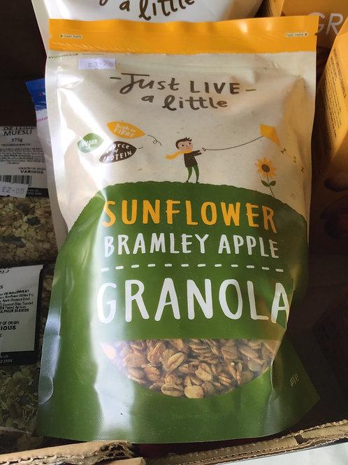 Sunflower bramley apple granola
