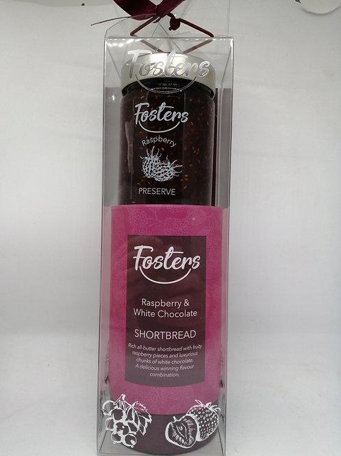 Raspberry + White Chocolate Shortbread gift pack