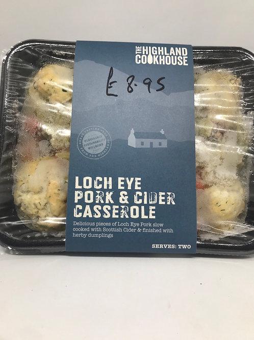 Loch Eye Pork and Cider Casserole for 2