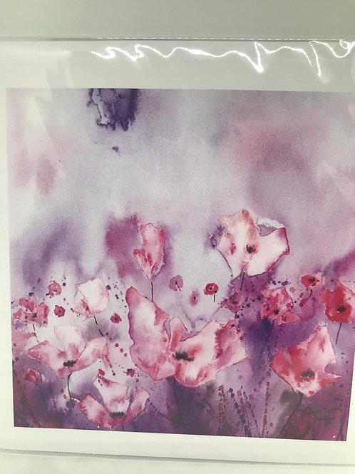 Pretty Floral Card- blank