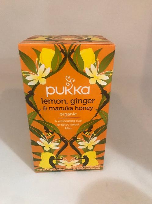 Pukka Lemon, Ginger and manuka honey organic tea
