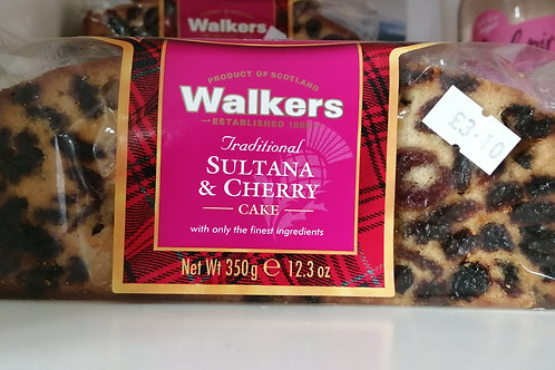 Walkers sultana and cherry cake