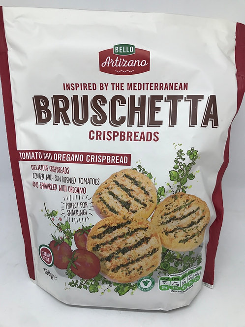 Bruschetta crispbreads tomato and oregano Chris bread