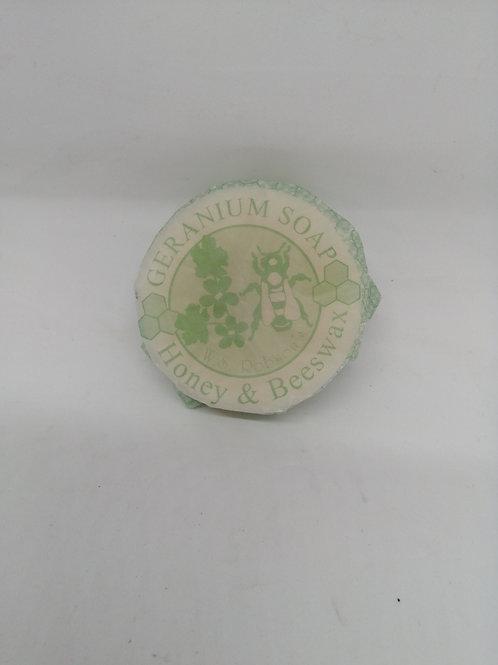 Honey and beeswax Geranium soap - 75g