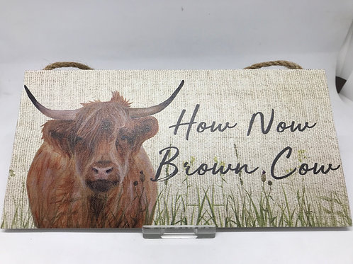Highland Cow Decorative Sign