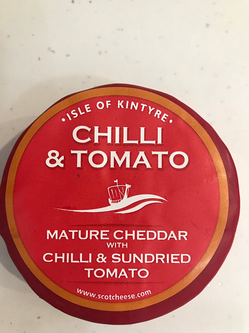 Kintrye Cheddar Cheese with chilli and sun-dried tomato