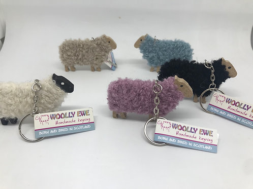 Woolly Ewe keyrings 5 colours