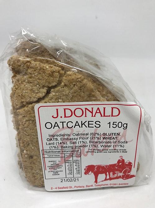 J Donalds Oatcakes 150g