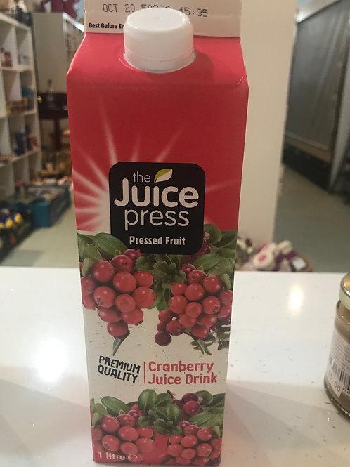 Cranberry  juice drink