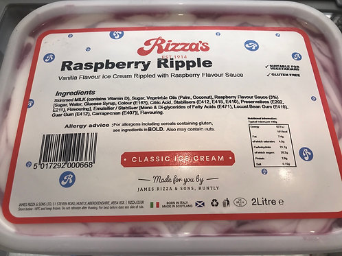 Rizza Raspberry Ripple Ice cream