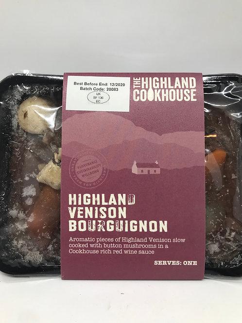 Highland cookhouse Venison Bourguignon for 1