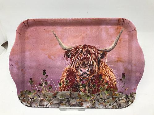 Highland Cow Melamine Tray