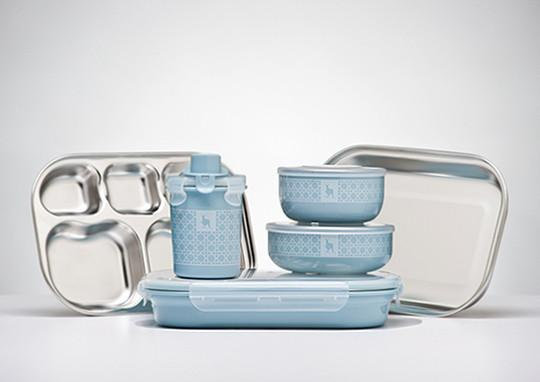 Kangovou Kids Dishware Set - Frosted Blueberry