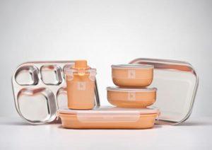 Kangovou Kids Dishware Set - Peaches & Cream