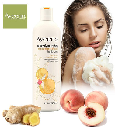 Aveeno Body Wash with White Peach & Ginger 16 fl. oz