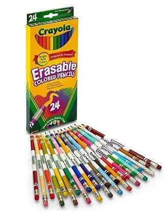 Crayola Erasable Colored Pencils (24 Count)