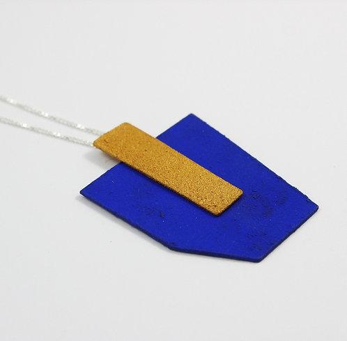 Pingente Azul + Dourado