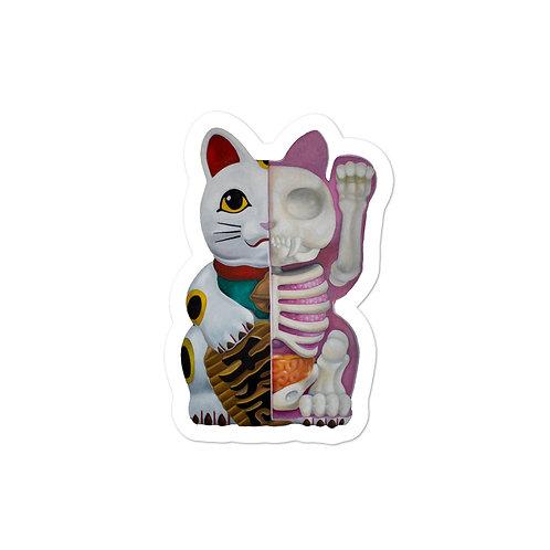 Lucky Cat Anatomy || Sticker Based on Original Painting
