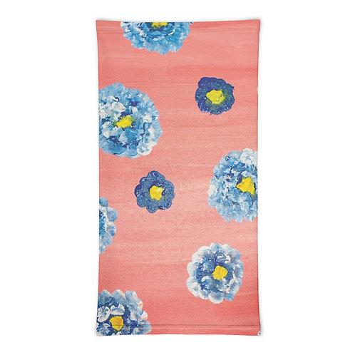 Blue Flowers Neck Gaiter