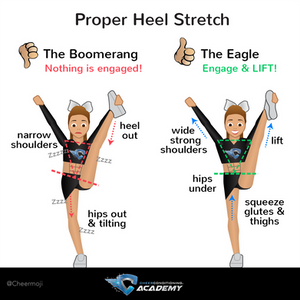 Cheerleading How to do a Heel Stretch