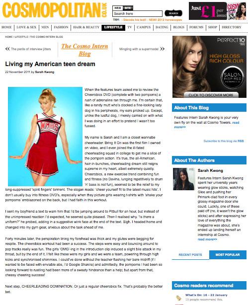 Cosmopolitan Nov 2011
