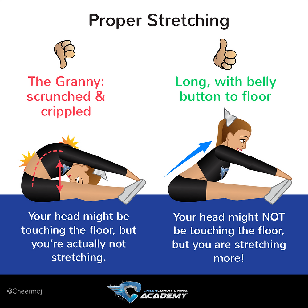 Stretching long for flexibility