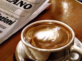 Un caffè durante l'Expo a Milano