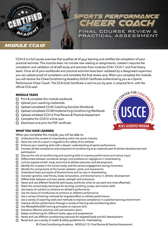 CCA12 | ACCREDITED GOLD CERTIFICATION