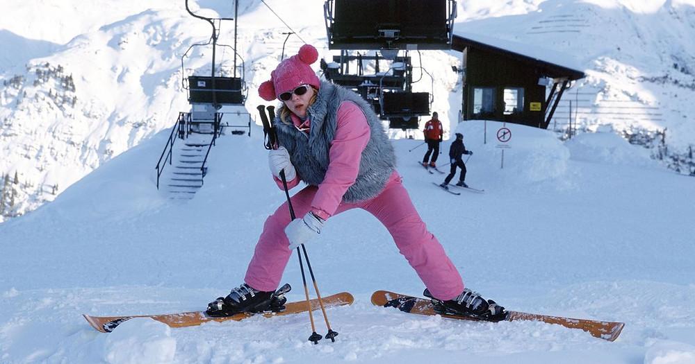 Bridget Jones Skiing