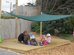 Sandpit With Sail Shade