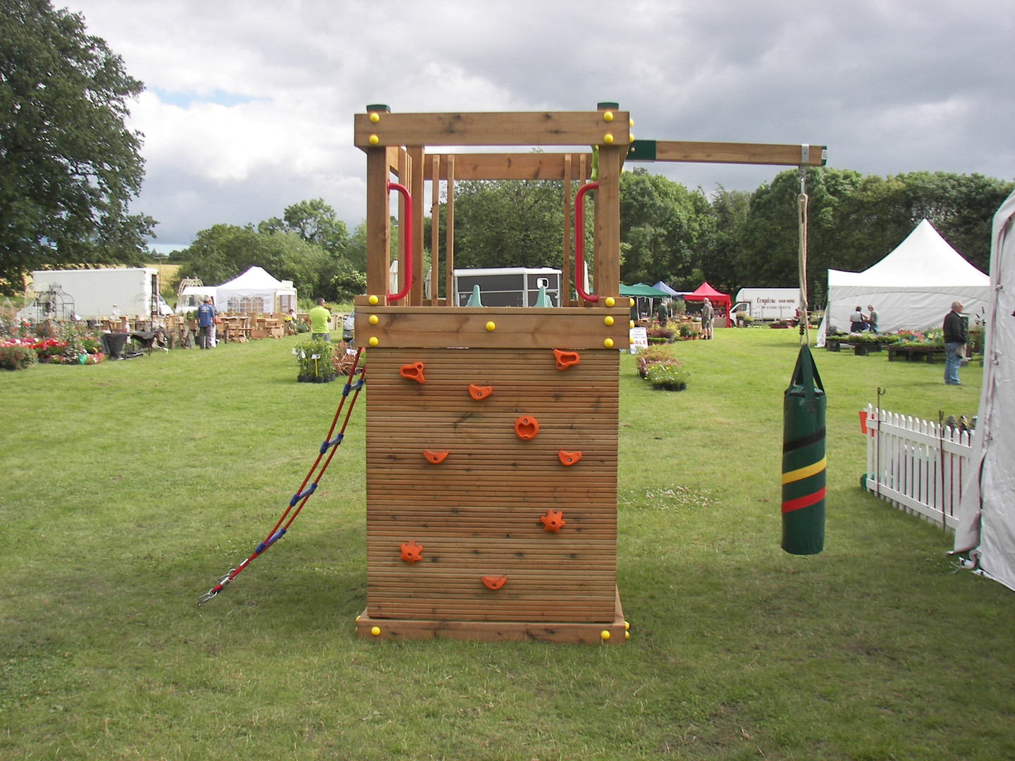 Play Tower With Punch Bag & climbing wall