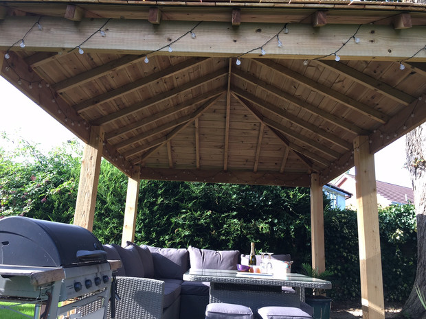 Timber Gazebo With Shingle Roof