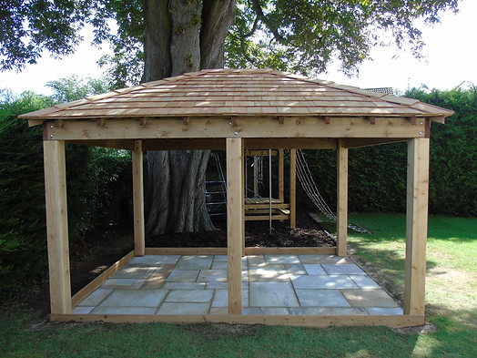 Bespoke Timber Gazebo & Sandstone Patio