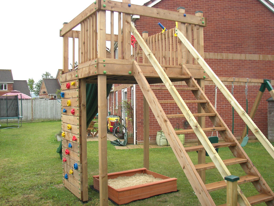 Tower With Climbing Wall And Steps